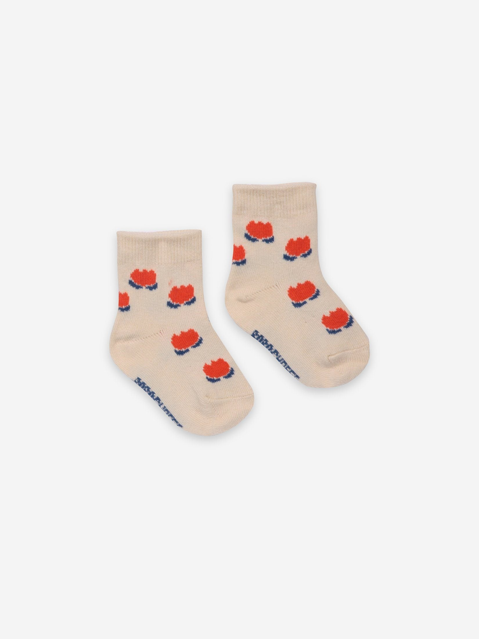 Chocolate Flowers White Baby Socks - Zirkuss