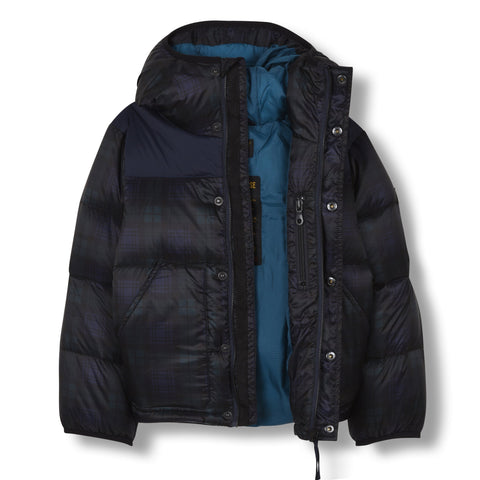 Mädchen, Girls - Down Jacket Snowflow Navy Checker
