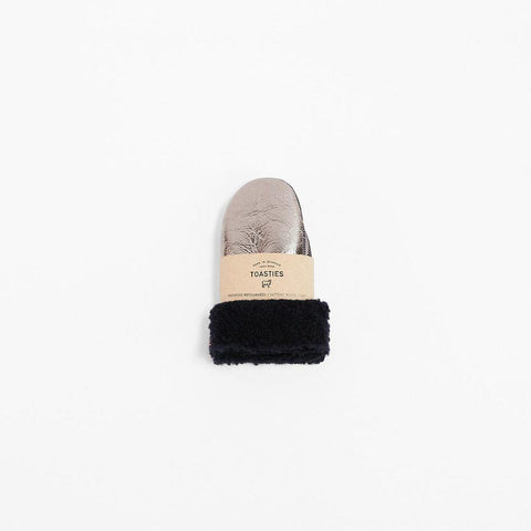 Gloves Sheepskin Metallic Silver Toasties | Zirkuss