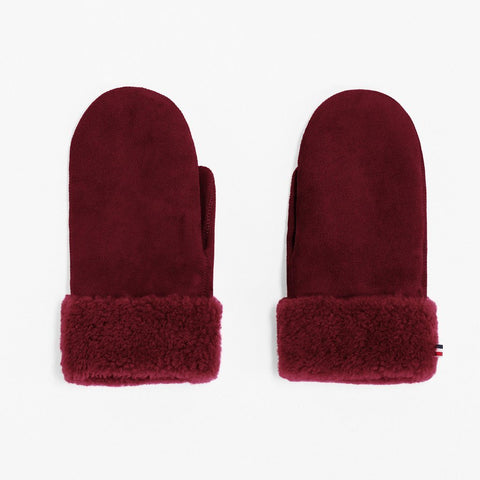 Mädchen, Girls - Gloves Sheepskin Woman Beetroot
