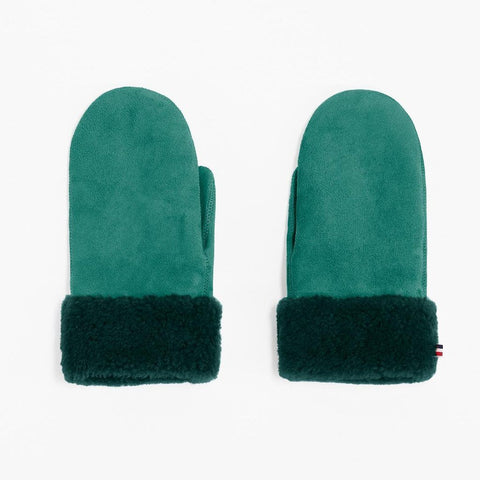 Mädchen, Girls - Gloves Sheepskin Woman Green