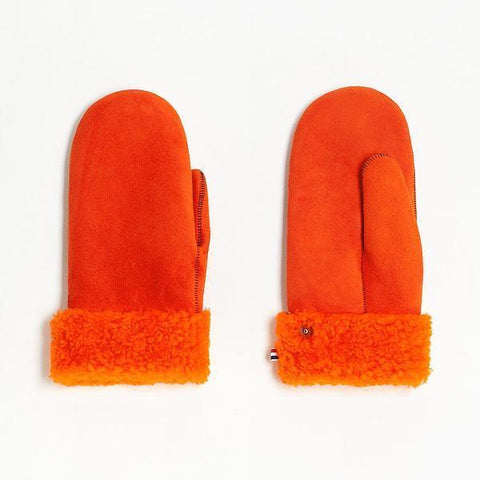 Gloves Sheepskin Woman Orange Toasties | Zirkuss