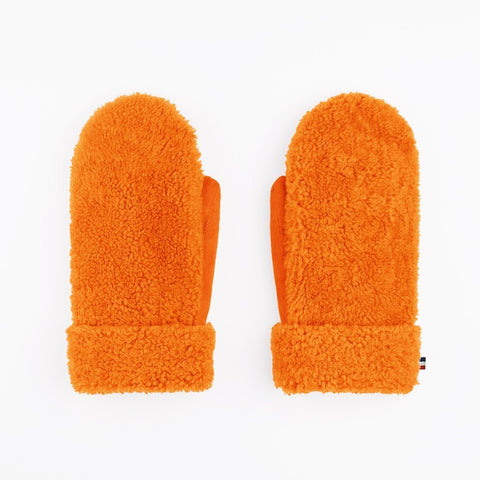 Gloves Teddy Sheepskin Orange Toasties | Zirkuss