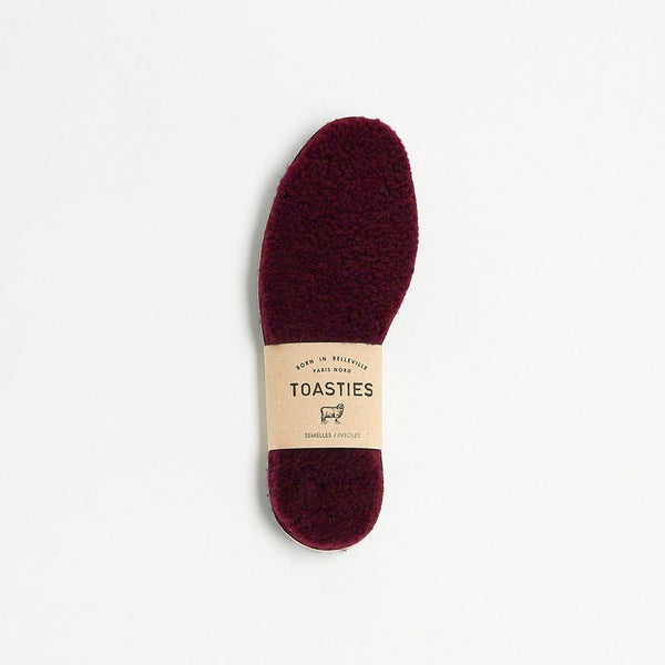 Mädchen, Girls - Insoles Sheepskin Kids Bordeaux
