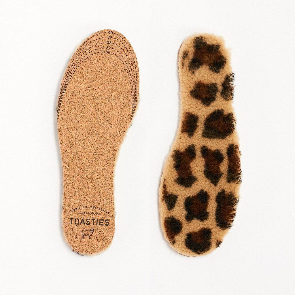 Insoles Sheepskin Kids Leopard Toasties | Zirkuss