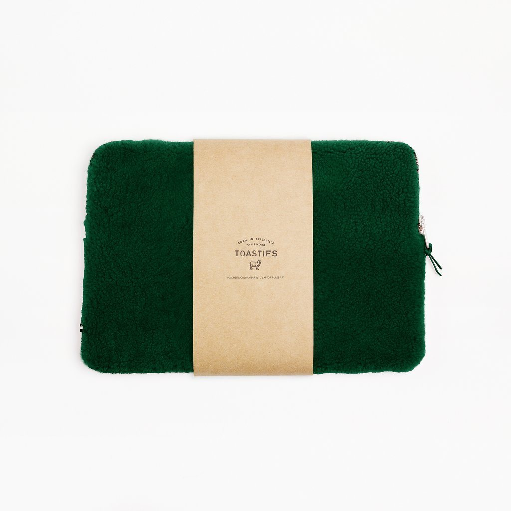 Mädchen, Girls - Laptop Case Sheepskin Emerald Green