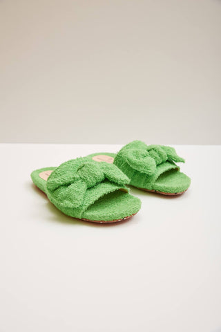 Mädchen, Girls - Maison Mangostan Shoes Teen Morango Green Towel