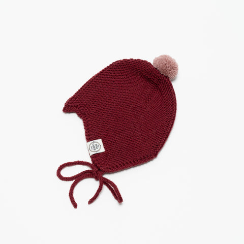 Mädchen, Girls - Mini Fabrik Baby Hat Brick Red
