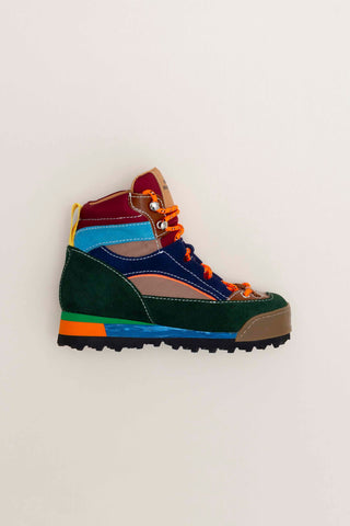 Mädchen, Girls - NUX KIDS Green Suede Hiking Boot