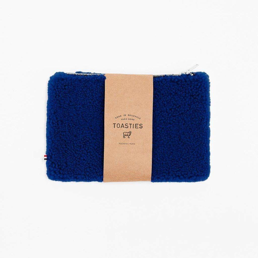 Mädchen, Girls - Purse Medium Sheepskin Blue