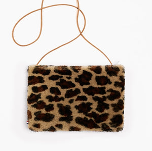 Purse Medium Sheepskin Leopard - Zirkuss