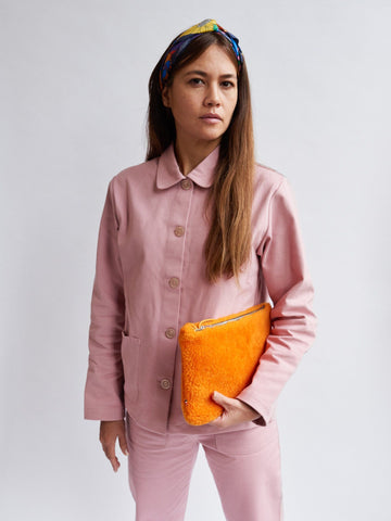 Mädchen, Girls - Purse Medium Sheepskin Orange