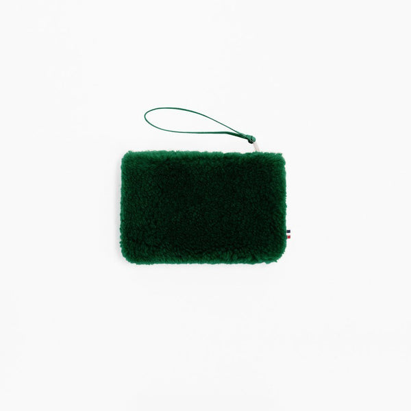 Mädchen, Girls - Purse Small Sheepskin Green