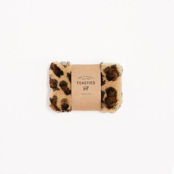 Mädchen, Girls - Purse Small Sheepskin Leopard
