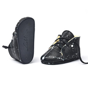 Shoes Baby Desert Boots Black/White Sparkles - Zirkuss