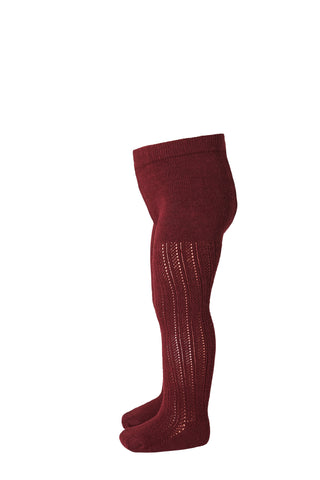 Tights Cotton Paeonia Bordeaux mp Denmark | Zirkuss