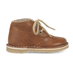 Mädchen, Girls - Winter Boot Desert Lace Cognac