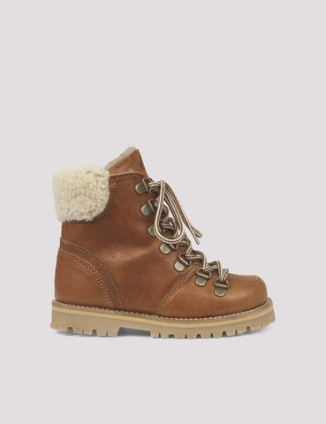 Mädchen, Girls - Winter Boots Sherling Cognac