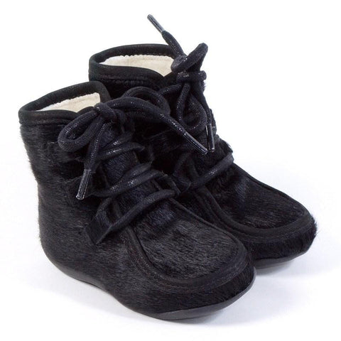 Petit Nord Shoes Fur Pre-Walker Black Petit Nord | Zirkuss