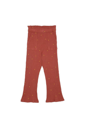 Francine Pants Cinnabar AOP Dotty Emb Soft Gallery | Zirkuss