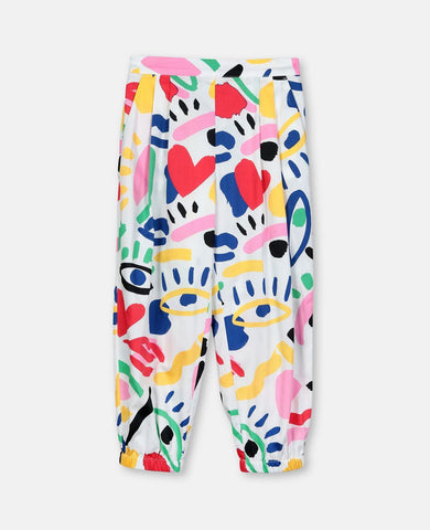 Graphic Face Cotton Trousers Stella McCartney Kids | Zirkuss