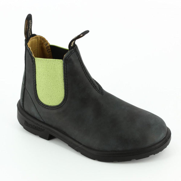 Schuhe, Shoes - Blundstone Shoes Kids Leather Black Lime