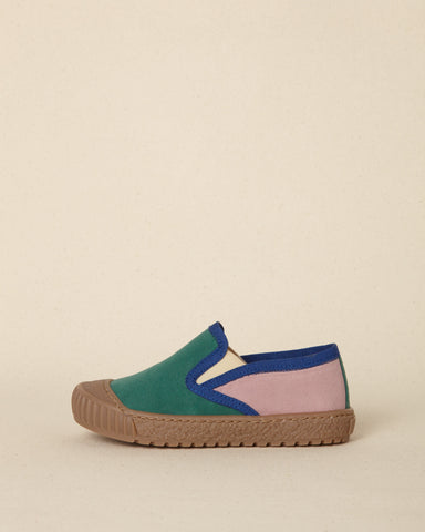 Flo Plimsole Green/Pink We a Family | Zirkuss