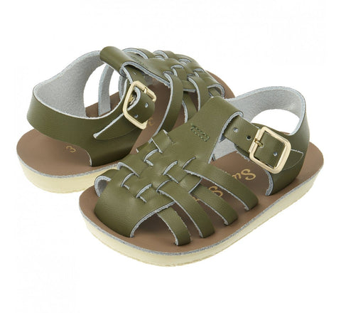 Salt-Water Sandals Sailor Child Olive Saltwater Sandalen | Zirkuss