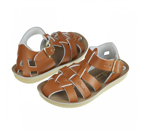 Salt-Water Sandals Shark Swimmer Tan Saltwater Sandalen | Zirkuss