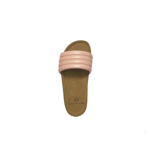 Sandals Cork Pink Ecoleather - Zirkuss