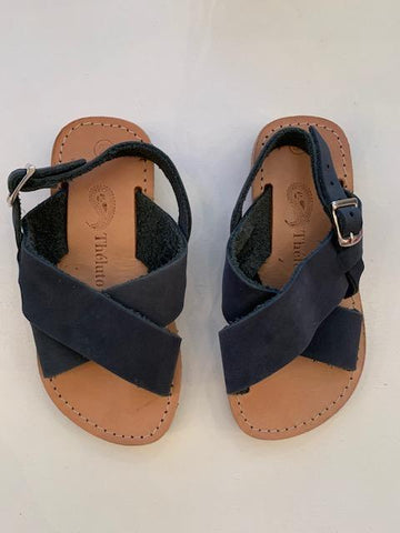 Theluto Sandalen Tom Nubuck Dark Grey - Zirkuss