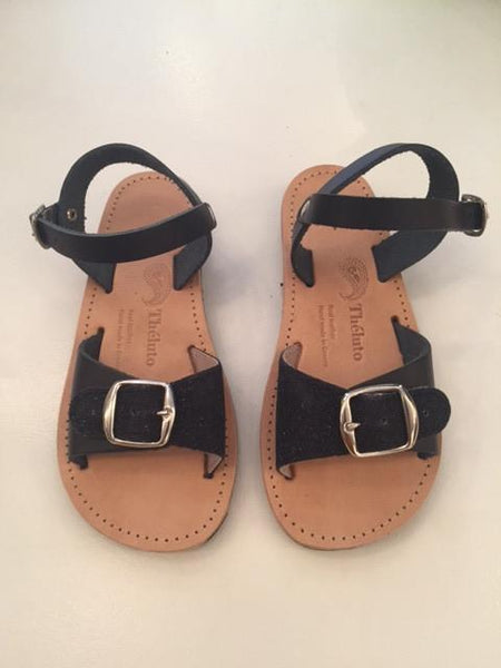 Schuhe, Shoes - Theluto Sandals Kids Angie Black Glitter