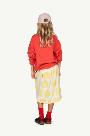 Ladybug Kids Skirt White Ovals - Zirkuss