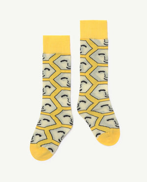 Hen Kids Socks Yellow The Animals Observatory | Zirkuss
