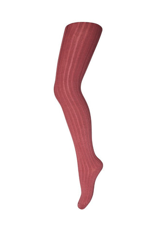 Tights Cotton Rib Rose Blush - Zirkuss