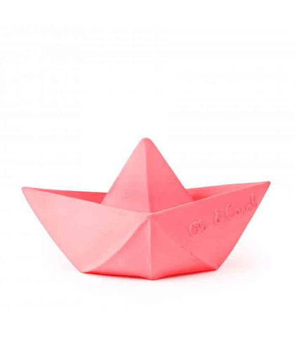 Spielsachen, Toys - Origami Boat Bath Toy Pink
