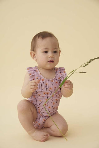 Baby Ana Swimsuit Dawn Pink AOP Buttercup - Zirkuss