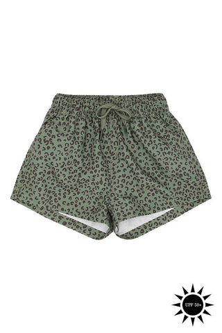Edison Baby Swim Pants Oil Green AOP Leospot Soft Gallery | Zirkuss