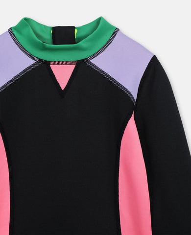 Swim Color Block Scuba T-shirt Deep Black Stella McCartney Kids | Zirkuss
