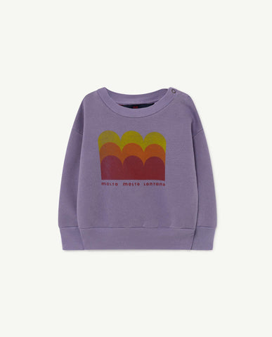 Bear Baby Sweatshirt Purple Molto - Zirkuss