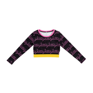 Lightning Logo Sport Crop Top Stella McCartney Kids | Zirkuss