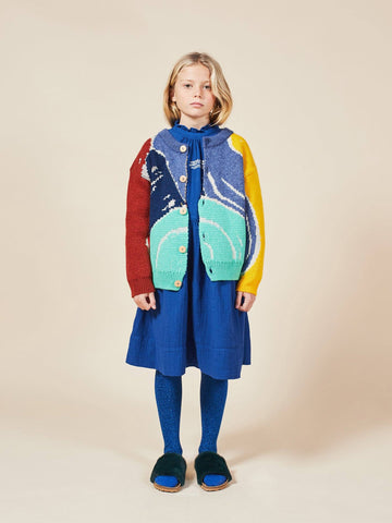 Multicolor Abstractions Cardigan Forever Blue Bobo Choses | Zirkuss