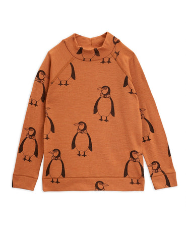 Penguin Wool Ls Tee Brown Mini Rodini | Zirkuss