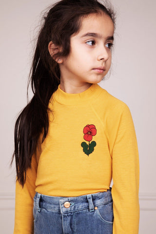 Viola Wool Ls Tee Yellow Mini Rodini | Zirkuss