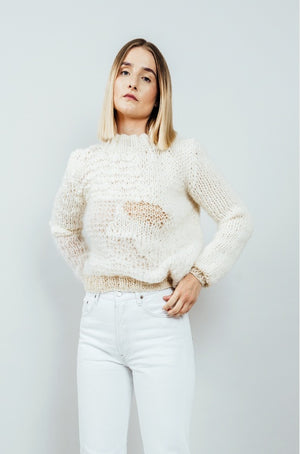 Pullover Woman Landslag White - Zirkuss