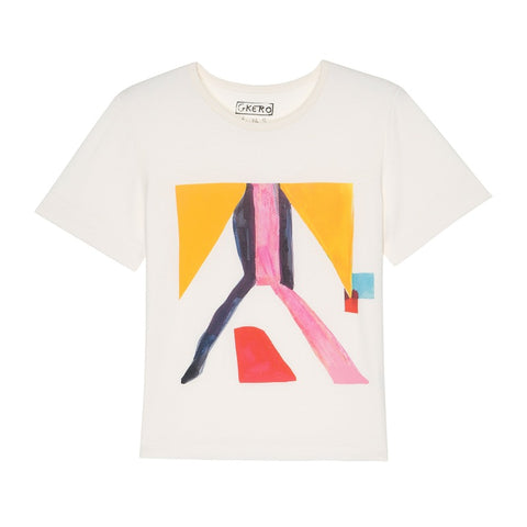 Yellow Yellow Pink Black T-Shirt