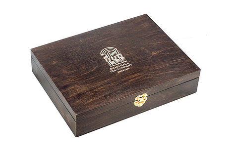 Handcrafted 6-Partition Wooden Tea Chest, Luxury Gift Box from our Signature Collection