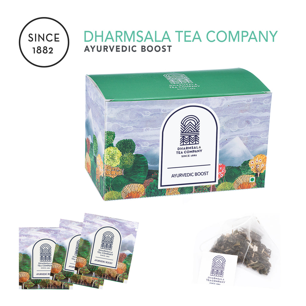 Ayurvedic Boost Teabags - Green Tea with Ashwagandha, Shankpushpi and Brahmi