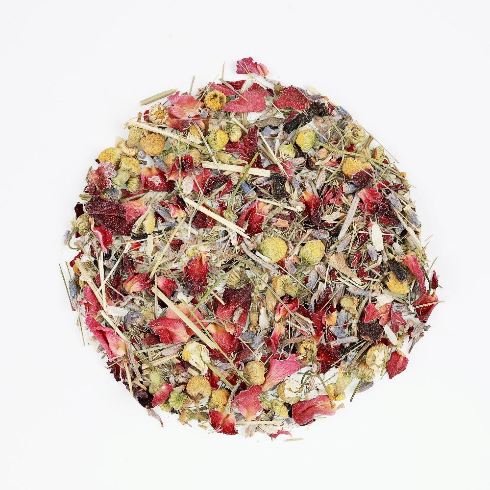 Relaxing Tisane Teabags - Rose Petals, Lavender, Chamomile Flowers, Hibiscus and Lemongrass