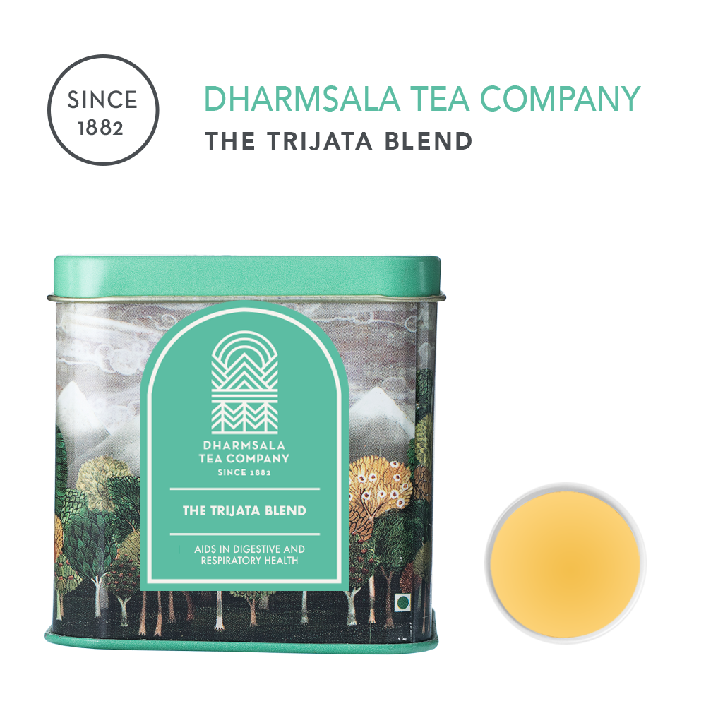 The Trijata (Three Aromatics) Blend - Kangra Green Tea with Cinnamon, Bay Leaf, Cardamom and Cloves